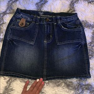 Banana Limon jean mini skirt